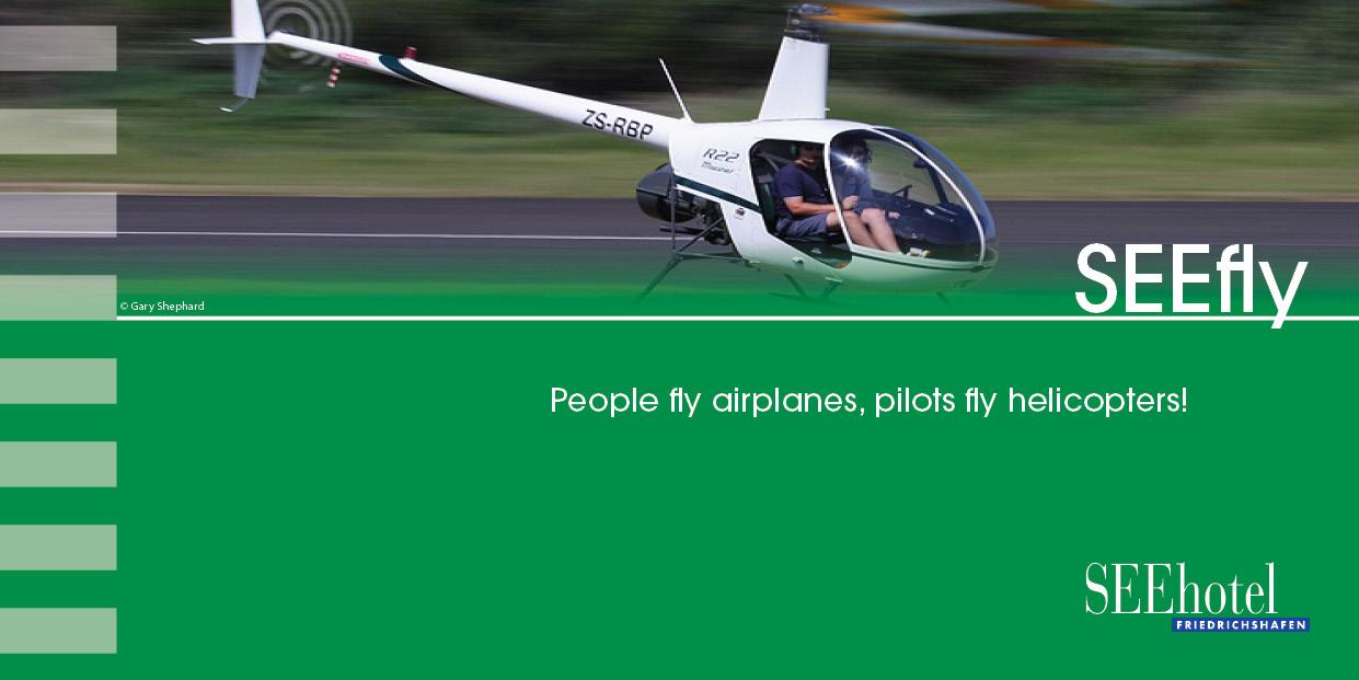 Arrangment Helikopterflug SEEhotel Friedrichshafen