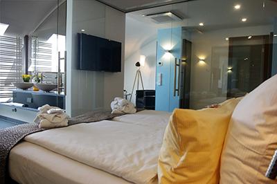 Schlafbereich Suite SEEhotel Friedrichshafen